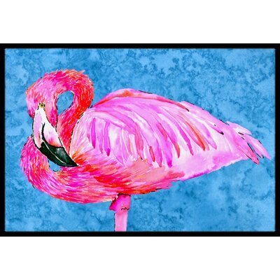 Flamingo Doormat Rug Size: Rectangle 16 x 2 3