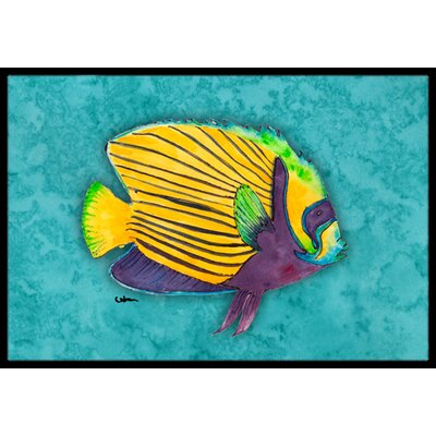 Fish Tropical Doormat Rug Size: 2 x 3