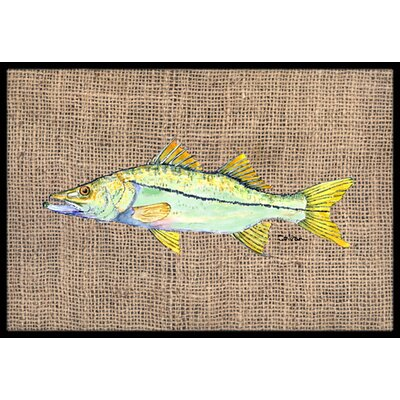 Fish Snook Doormat Rug Size: Rectangle 2 x 3