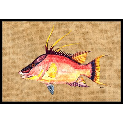 Hog Snapper Doormat Mat Size: Rectangle 16 x 2 3