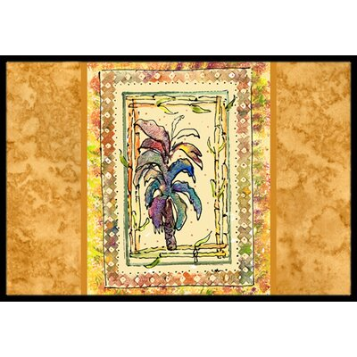 Palm Tree Doormat Rug Size: Rectangle 2 x 3