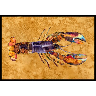 Lobster Doormat Mat Size: 2 x 3