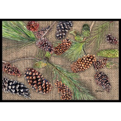 Pine Cones Doormat Rug Size: Rectangle 16 x 2 3