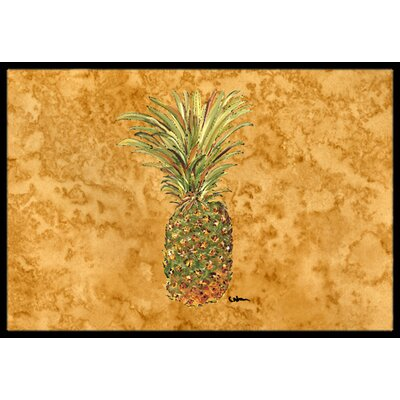Pineapple Doormat Mat Size: 2 x 3