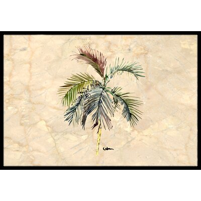 Palm Tree Doormat Rug Size: 2 x 3