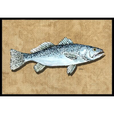 Speckled Trout Doormat Mat Size: Rectangle 2 x 3