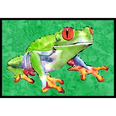 Frog Doormat Rug Size: Rectangle 2 x 3