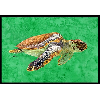 Turtle Doormat Mat Size: Rectangle 2' x 3'