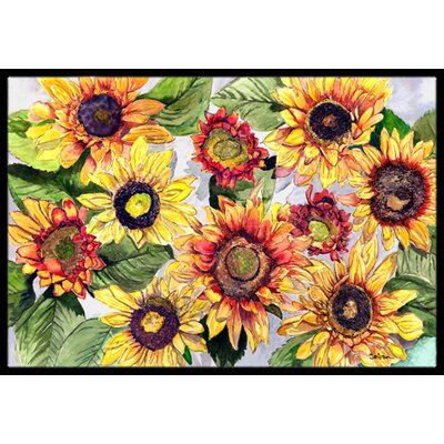 Sunflowers Doormat Rug Size: 2 x 3