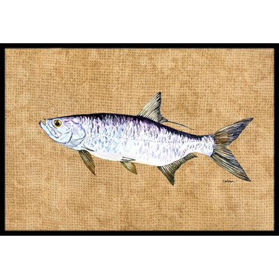 Tarpon Doormat Mat Size: Rectangle 16 x 2 3