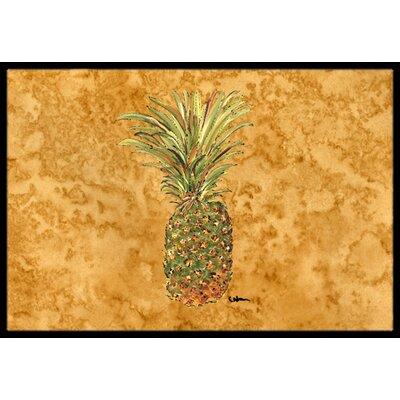 Pineapple Doormat Rug Size: 16 x 2 3