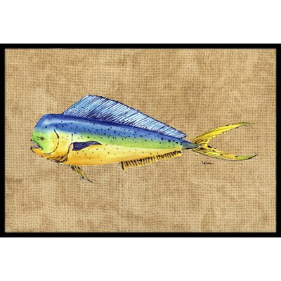 Dolphin Mahi Mahi Doormat Mat Size: Rectangle 2 x 3