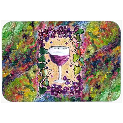 Wine Kitchen/Bath Mat Size: 24 H x 36 W x 0.25 D