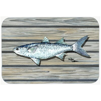 Fish Mullet Kitchen/Bath Mat Size: 24 H x 36 W x 0.25 D