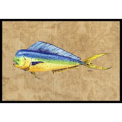 Dolphin Mahi Mahi Doormat Rug Size: 16 x 2 3