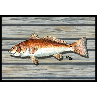 Fish Doormat Rug Size: Rectangle 16 x 2 3