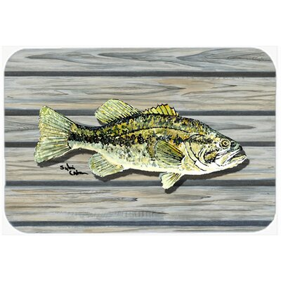Fish Bass Small Mouth Kitchen/Bath Mat Size: 20 H x 30 W x 0.25 D