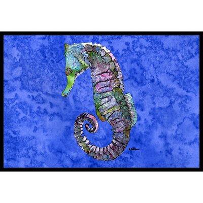 Seahorse Ma Doormat Mat Size: Rectangle 2 x 3