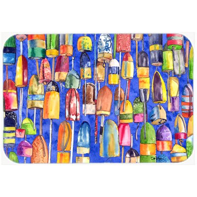 Lobster Bouys Kitchen/Bath Mat Size: 24 H x 36 W x 0.25 D