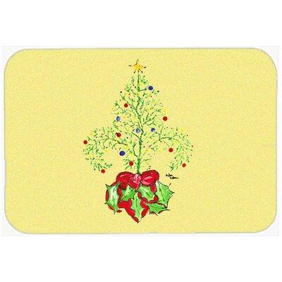 Christmas Tree Fleur De Lis Kitchen/Bath Mat Size: 20 H x 30 W x 0.25 D