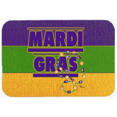 Mardi Gras Kitchen/Bath Mat Size: 24