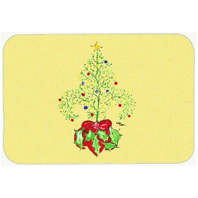Christmas Tree Fleur De Lis Kitchen/Bath Mat Size: 24 H x 36 W x 0.25 D