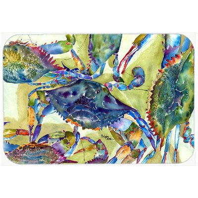 Crab All Over Kitchen/Bath Mat Size: 20 H x 30 W x 0.25 D