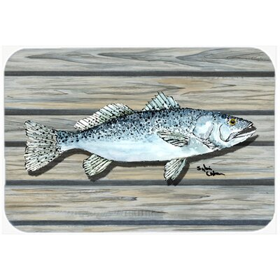 Fish Speckled Trout Kitchen/Bath Mat Size: 24 H x 36 W x 0.25 D