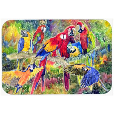 Parrot Kitchen/Bath Mat Size: 24 H x 36 W x 0.25 D