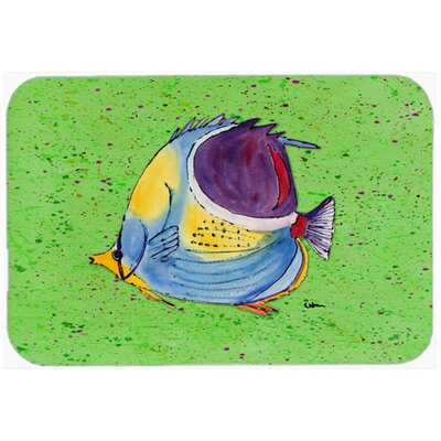 Tropical Fish Kitchen/Bath Mat Size: 24 H x 36 W x 0.25 D, Color: Green