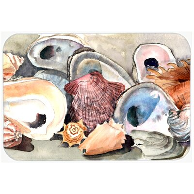 Sea Shells Kitchen/Bath Mat Size: 24 H x 36 W x 0.25 D