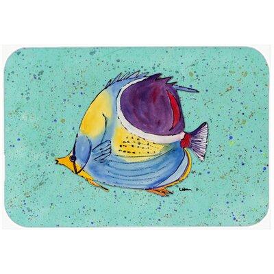 Tropical Fish Kitchen/Bath Mat Size: 20 H x 30 W x 0.25 D, Color: Teal