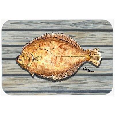Fish Flounder Kitchen/Bath Mat Size: 24 H x 36 W x 0.25 D