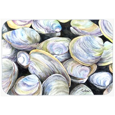 Clam Quahog Kitchen/Bath Mat Size: 24 H x 36 W x 0.25 D