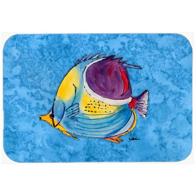 Fish Tropical Kitchen/Bath Mat Size: 24 H x 36 W x 0.25 D