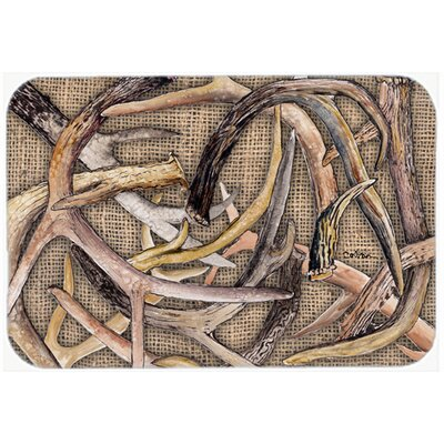 Deer Horns Kitchen/Bath Mat Size: 24 H x 36 W x 0.25 D