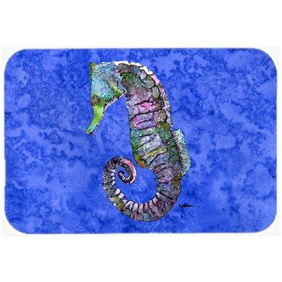 Seahorse Kitchen/Bath Mat Size: 24 H x 36 W x 0.25 D