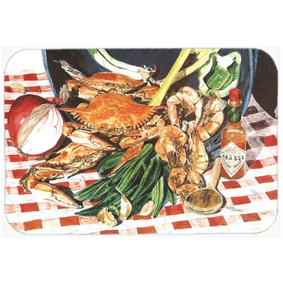 Crab Boil Kitchen/Bath Mat Size: 20 H x 30 W x 0.25 D