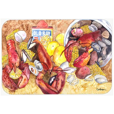 Lobster Kitchen/Bath Mat Size: 24 H x 36 W x 0.25 D