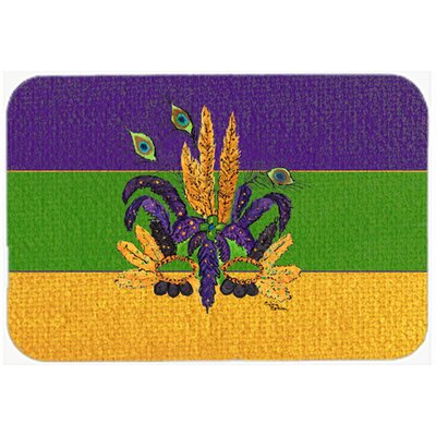 Mardi Gras Mask Kitchen/Bath Mat Size: 20 H x 30 W x 0.25 D