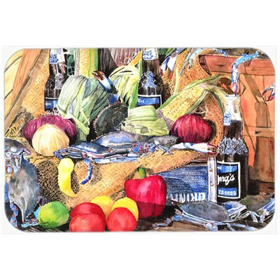 Barqs and Crabs Kitchen/Bath Mat Size: 24 H x 36 W x 0.25 D