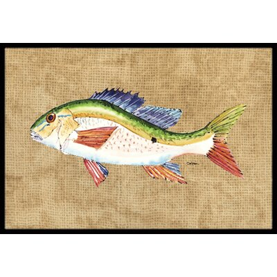 Rainbow Trout Doormat Mat Size: Rectangle 16 x 2 3