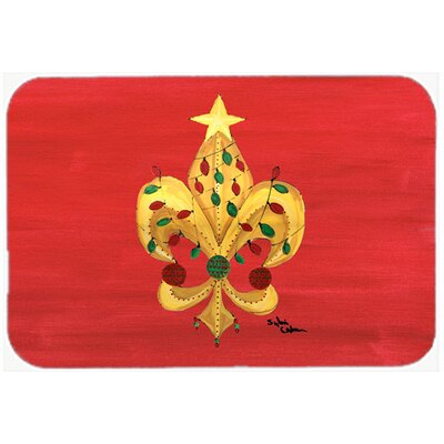 Christmas Fleur De Lis Tree with Lights Kitchen/Bath Mat Size: 24 H x 36 W x 0.25 D
