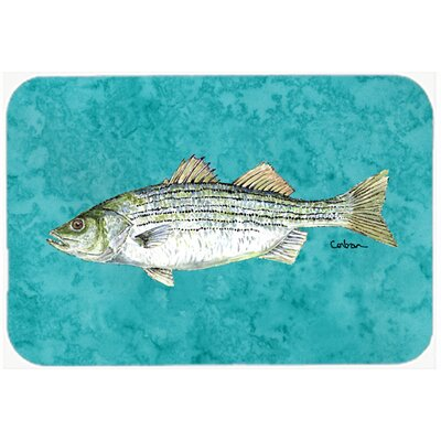 Fish Striped Bass Kitchen/Bath Mat Size: 20 H x 30 W x 0.25 D