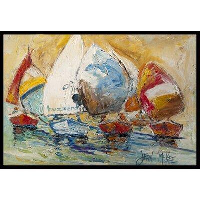 Buzzards Sailboat Race Doormat Mat Size: Rectangle 16 x 2 3