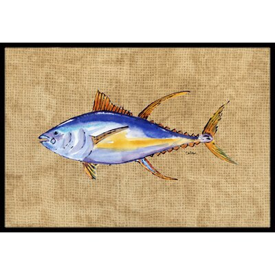 Tuna Fish Doormat Mat Size: Rectangle 16 x 2 3
