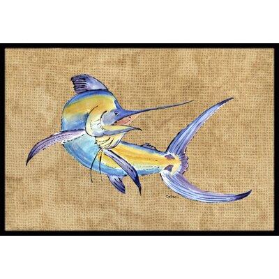 Marlin Doormat Rug Size: 16 x 2 3