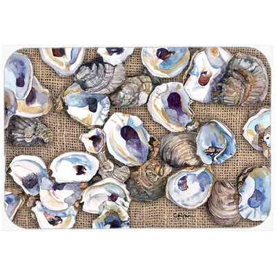 Oyster Kitchen/Bath Mat Size: 24 H x 36 W x 0.25 D