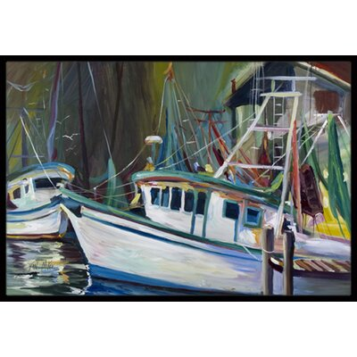 Joe Patti Shrimp Boat Doormat Mat Size: Rectangle 16 x 2 3