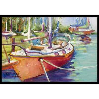Sailboat Doormat Rug Size: 16 x 2 3